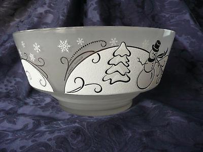 Lenox-Snowmans-Wonderland-Limited-Ed-Bowl-w-Platinum