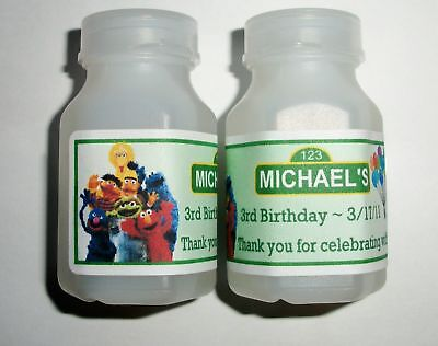 30 Sesame Street Birthday Party Favors Bubble Labels