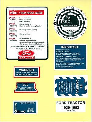 39 40 41 47 48 49 50 51 52 Ford Tractor 8n 9n 2n Decals