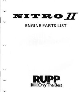 NOS RUPP NITRO II SNOWMOBILE ENGINE MANUAL