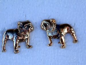 VINTAGE-MACK-TRUCK-BULL-DOGS-LEFT-RIGHT-GOLD-PLATED-PINS