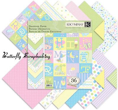 Snuggle Bug Baby Scrapbooking 12x12 Paper Pad 36 Sheets K&company