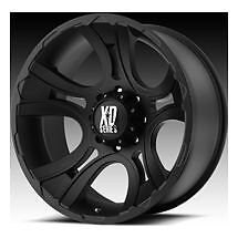 "17"" XD CRANK BLACK W/ 265/70/17 TOYO OPEN COUNTRY MT"