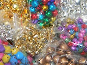 100-Jingle-Bells-Gold-Silver-Copper-MultiColored-6-10mm