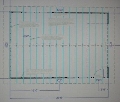 24 x 30 garage shop plans materials list blueprints for Garage material list