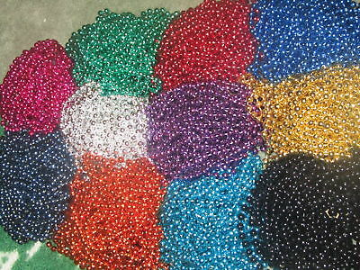 72 (6 DOZEN) COLOR CHOICE MARDI GRAS BEADS/NECKLACES - PARTY FAVORS NEW
