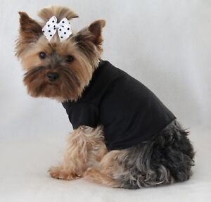 L-New-Solid-Black-Dog-T-Shirt-clothes-tee-large-PC-Dog