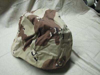 Pasgt Helmet Cover Desert Storm Chocolate Chip M/l Kevlar Parachutists Troops