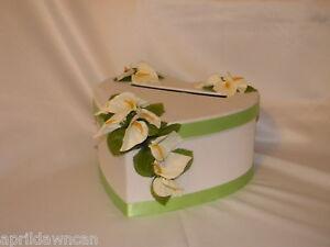 WEDDING-CAKE-MONEY-CARD-BOX-HOLDER-CALLA-LILLIES-CUSTOM