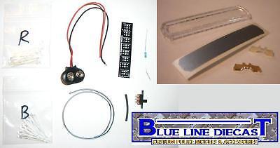1/18 Flashing Led Police Lightbar Kit - Do It Yourself, Installs On Any Model