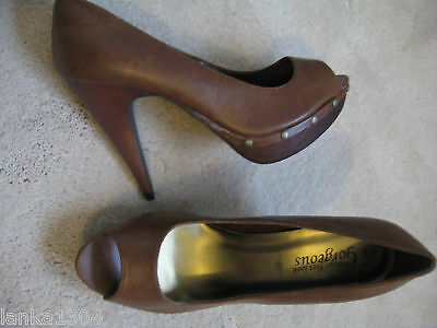 New-Look-Brown-studded-clog-Stiletto-Heels-shoes-New-size-7-25-00