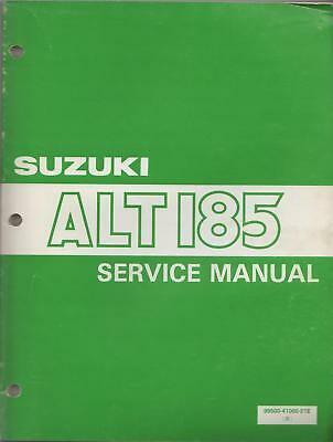 1984 Suzuki Atv 3 Wheeler Alt 185 Service Manual