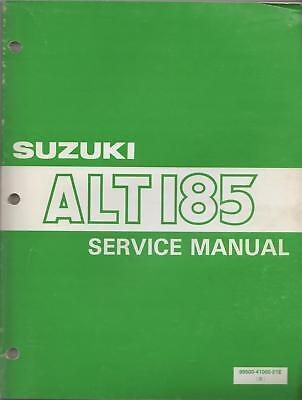 1984 Suzuki Atv 3 Wheeler Alt 185 Service Manual