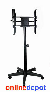 Plasma-LCD-LED-Trolley-Mobile-TV-Stand-14-32-25kg-Tilt-Swivel