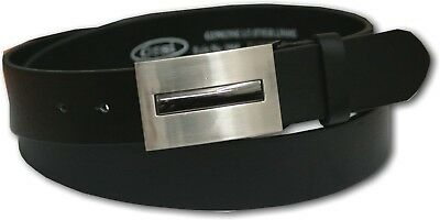 NEW-OSSI-BLACK-MENS-LEATHER-LINED-BELT-STYLE-5064-32-48-GIFT-BOXED-OPTION