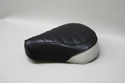 Honda Nc50 Express Seat Cover In 2-tone Black & White Rear Panel (w/e/st)