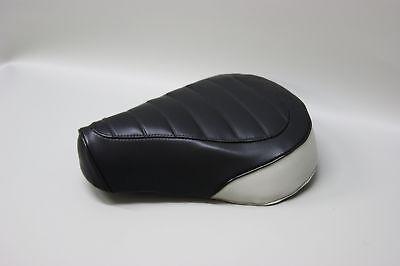 Honda Nc50 Express Seat Cover In 2-tone Black & White Rear Panel (w/e/st)
