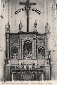 10-cpa-BOUILLY-L-039-eglise-Le-retable