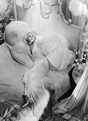 JEAN-HARLOW-8x10-PICTURE-SEXY-DINNER-AT-EIGHT-SET-PHOTO
