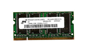128MB Ddr PC2100 266MHZ 200PIN Sodimm Un...