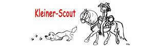 Kleiner Scout seine Satteltasche