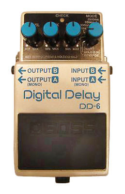 boss dd 6 delay guitar effect pedal for sale online ebay. Black Bedroom Furniture Sets. Home Design Ideas