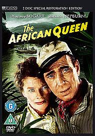 THE AFRICAN QUEEN HUMPHREY BOGART KATHERINE HEPBURN JOHN HUSTON ORIGINAL NEW DVD