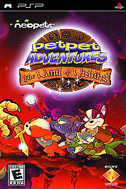 Neopets Petpet Adventures: The Wand of Wishing (Sony PSP, 2006) Brand New Sealed