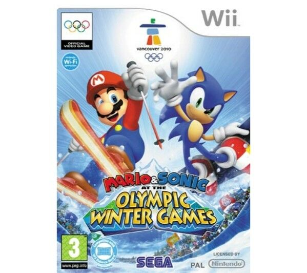 Mario & SONIC AI GIOCHI OLIMPICI INVERNALI Wii NUOVO E SIGILLATO, VERSIONE UK