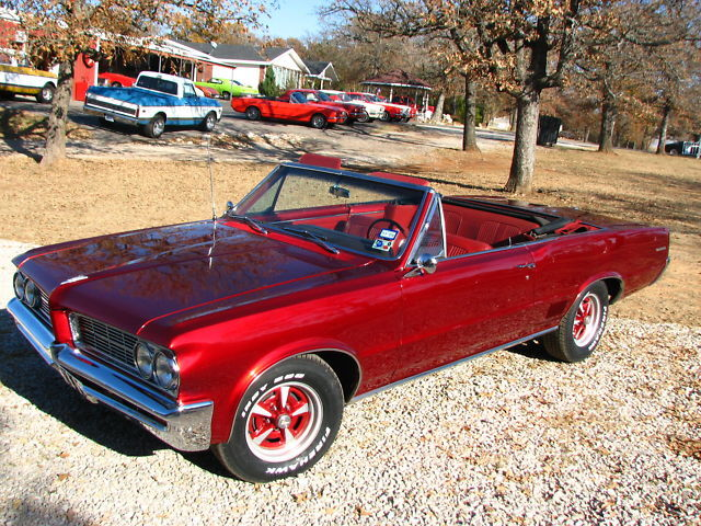64 CANDY APPLE RED LEMANS CONVERTIBLE GTO WHEELS LOADED