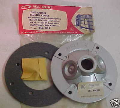 Lot Of (4) Bell Deluxe 1-outlet Cluster Cover 381