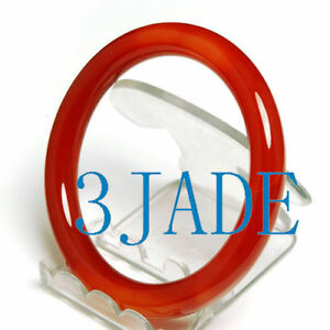 61mm-Red-Agate-Carnelian-Round-Bangle-Bracelet
