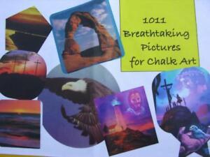 1011-Chalk-Art-Pictures-on-2-CD-039-s-Easel-Chalktalk-Oil