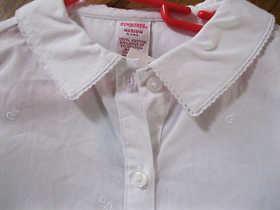 Gymboree Victorian Charm Embroidered White Blouse Girls Top 4