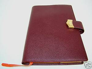 GOLDPFEIL-NEW-PLUM-LEATHER-JOURNAL-PHONEBOOK-DIARY