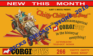 Corgi Toys 266 Chitty Chitty Bang Bang Car Poster Sign