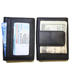 Men's Leather Wallet Business Card Holder