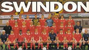 SWINDON TOWN FOOTBALL TEAM PHOTO 1991-92 SEASON