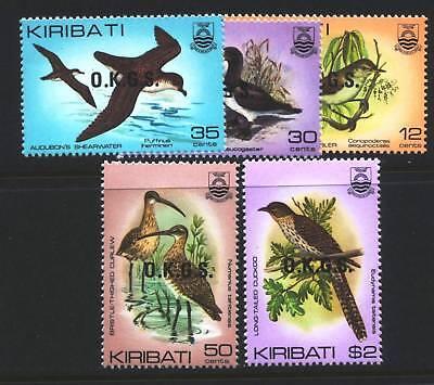 KIRIBATI o16-o20  -- 'OFFICIALS - 1983 - BIRDS -  MINT