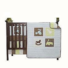 Mod Pod Pop Vintage Toys 4-piece Crib Bedding Set