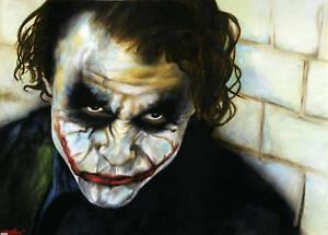 "Joker The Dark Knight Signed NY Art Print Poster Heath Ledger Batman 12x18"""