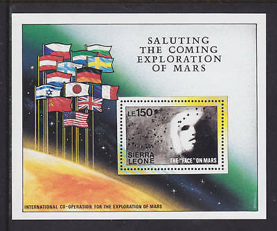 Sierra Leone Sc 1167-1171 MNH. 1990 Faces of Mars S/S, cplt set, VF