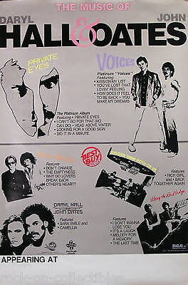 HALL & OATES 1982 RCA PROMO UNUSED TOUR POSTER ORIGINAL