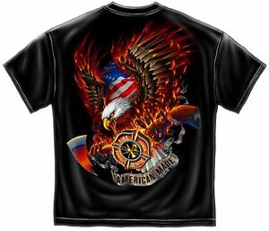 Fire rescue courage honor firefighter t shirt ff2062 for Kicks on fire t shirt