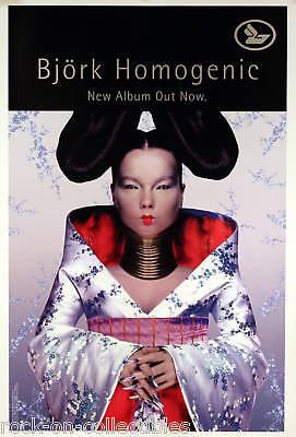 BJORK 1997 HOMOGENIC ORIGINAL PROMO POSTER