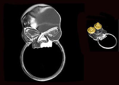 Willie G. Skull Sunglass Holder Pin Biker Pin