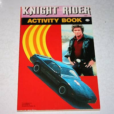 Knight Rider tv show David Hasselhoff Kit Car Activity Book 1983 Vintage NEW