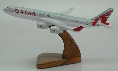 A 340 Qatar Airways A340 Airbus Airplane Desk Wood Model Big New