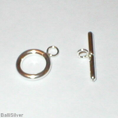 24-Sets-Italian-Sterling-Silver-11mm-TOGGLE-Clasps-Lot