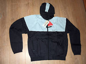 TEDDY SMITH HOODED BLACK/GREY JACKET SIZE XL. raincoat shell